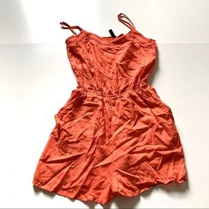 Divided H&M orange romper size 2